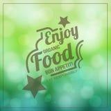 Enjoy organic Food. Typographic poster design Royalty Free Stock Photo