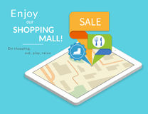 Enjoy our shopping mall. Mobile marketing and personalizing Royalty Free Stock Images