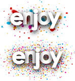 Enjoy paper banners. Royalty Free Stock Photo