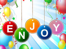 Enjoy Party Represents Celebration Jubilant And Celebrations Royalty Free Stock Images