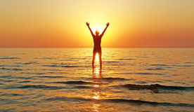 Enjoy que anda na água Fotografia de Stock Royalty Free