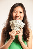 Enjoy que hace un poco de dinero Foto de archivo