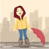 Enjoy the rain Royalty Free Stock Images