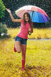 Enjoy the rain Stock Photography