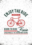 Enjoy the ride. Typography design, vector image Royalty Free Stock Photo