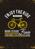 Enjoy the ride typography design royalty free illustration