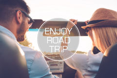 Enjoy roadtrip. Stock Images