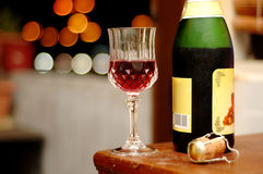 Enjoy the romantic night. Still life shot of wine at romantic night - landscape format Stock Photography