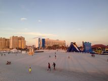 Enjoy the sand of Clearwater, Tampa royalty free stock photos
