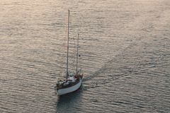 Enjoy in sea. Sailing yacht on Adriatic sea stock photography