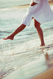 Enjoy in sea water Royalty Free Stock Image