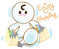 Enjoy shopping Royalty Free Stock Images