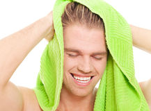 Enjoy a shower Stock Photography