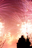 Enjoy the sight of fireworks Royalty Free Stock Photography