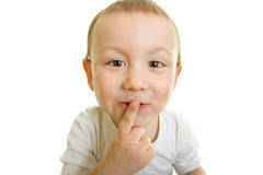 Enjoy the silence boy Royalty Free Stock Images