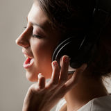 Enjoy singing Stock Photography