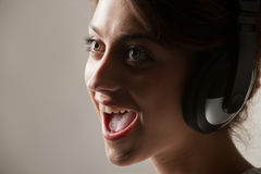 Enjoy singing Stock Images