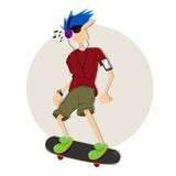Enjoy Skateboarding Royalty Free Stock Images