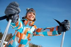 Enjoy skiing Royalty Free Stock Photo