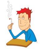 Enjoy smoking cigarette Stock Photo