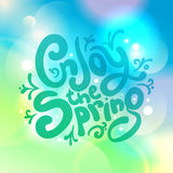 Enjoy the spring quote card Stock Images
