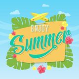 Enjoy Summer Abstract Vector Card, Poster or Royalty Free Stock Photo