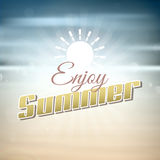 Enjoy summer background Stock Image