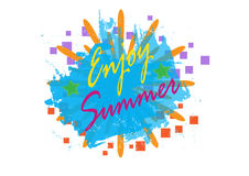 Enjoy Summer background,  illustration eps.10 Royalty Free Stock Photo