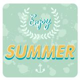 Enjoy summer card Royalty Free Stock Photography