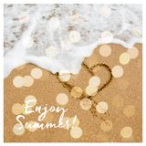 Enjoy summer card design with bokeh. Shape of the Royalty Free Stock Photography