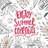 Enjoy summer cocktails royalty free stock images