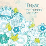 Enjoy the summer holiday background Royalty Free Stock Images
