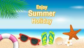 Enjoy summer holiday background. Season vacation, weekend. Vecto Stock Photos