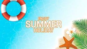 Enjoy summer holiday background. Season vacation, weekend. Vecto Royalty Free Stock Images