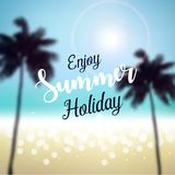 Enjoy Summer Holiday Stock Image