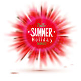 Enjoy summer holidays blurred red circle label Royalty Free Stock Images