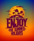 Enjoy the summer holidays card Stock Photo