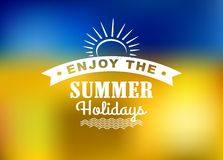 Enjoy Summer Holidays poster Royalty Free Stock Photo