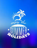 Enjoy the Summer Holidays poster design Stock Photography