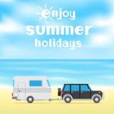 Enjoy summer holidays Stock Image