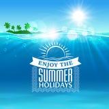 Enjoy summer holidays travel poster background Stock Image