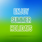 Enjoy Summer Holidays typographic design. Stock Photos