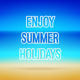 Enjoy Summer Holidays typographic design. Stock Image