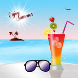 Enjoy summer Stock Image