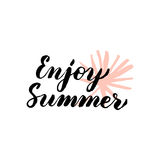 Enjoy Summer Lettering Stock Images