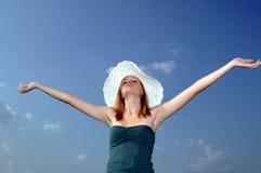 Enjoy summer sun stock photo