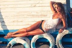 Enjoy in summer sun Stock Photos