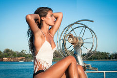 Enjoy in summer sun Royalty Free Stock Image