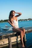 Enjoy in summer sun Stock Photo