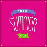 Enjoy summer time design Stock Images